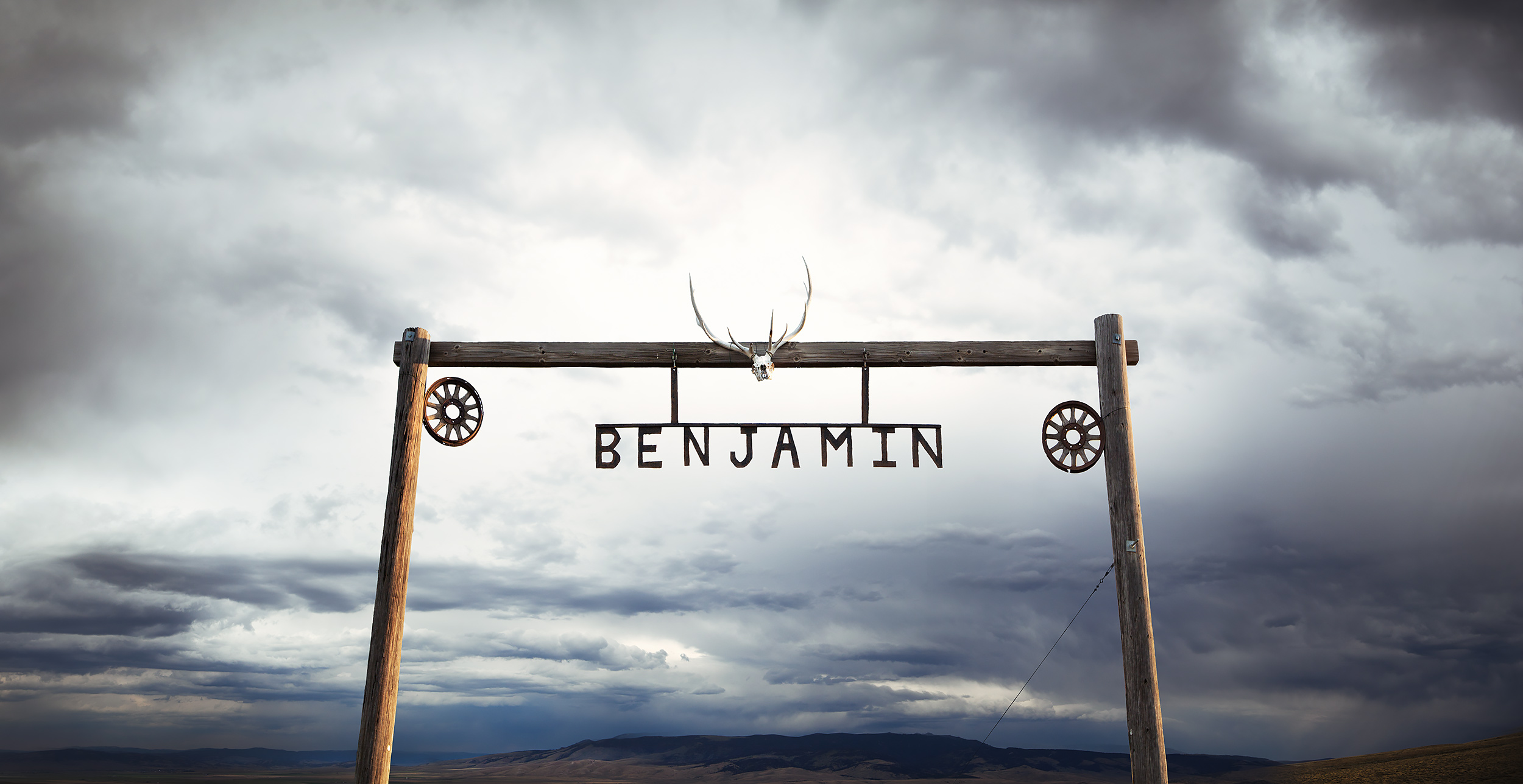 The entrance to the Benjamin Ranch in Montana