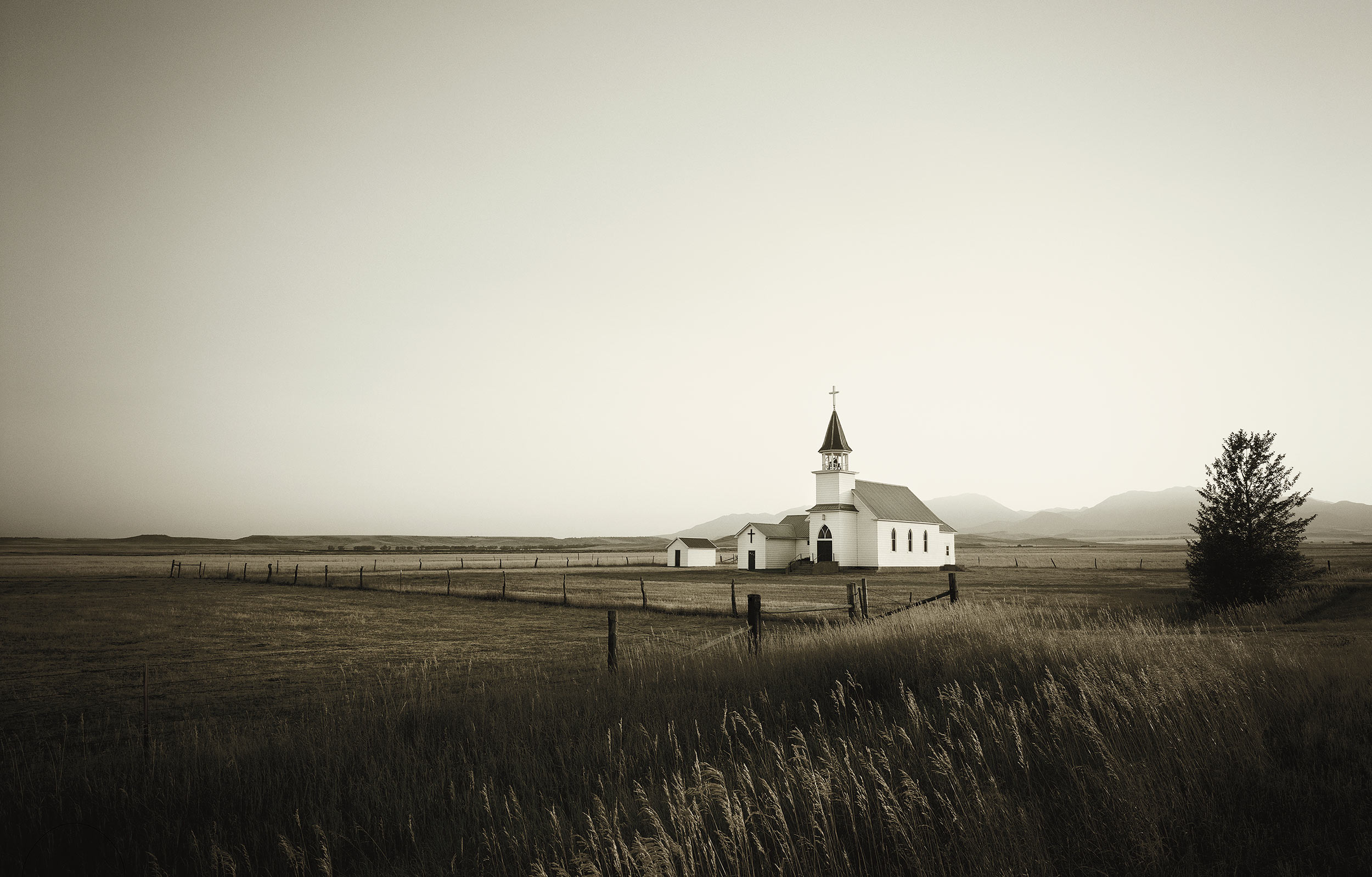 A small church in Melville, Montana in Sweet Grass County