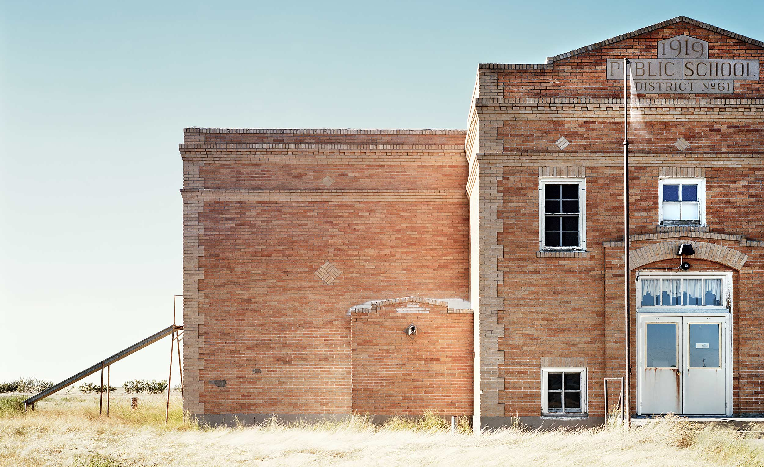 Old brick schoolhouse in Montana