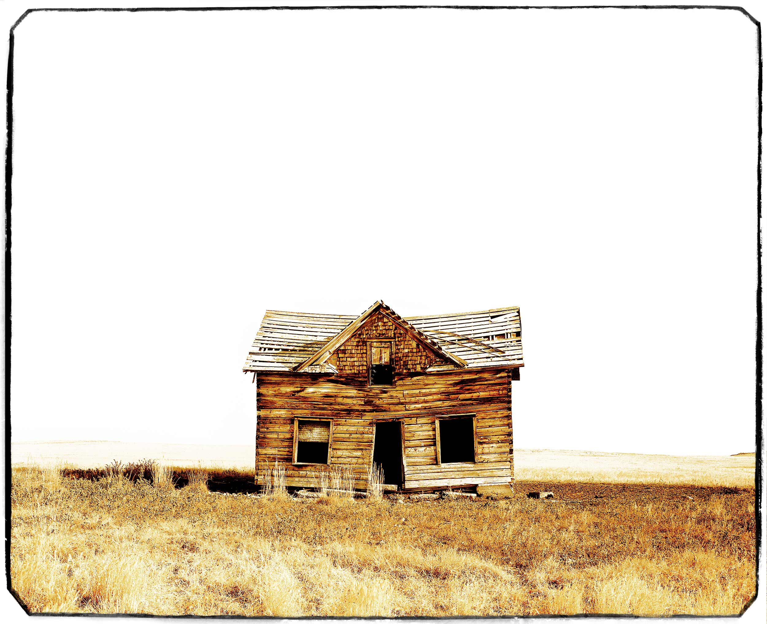 Lone homestead in Melville, Montana in Sweet Grass County
