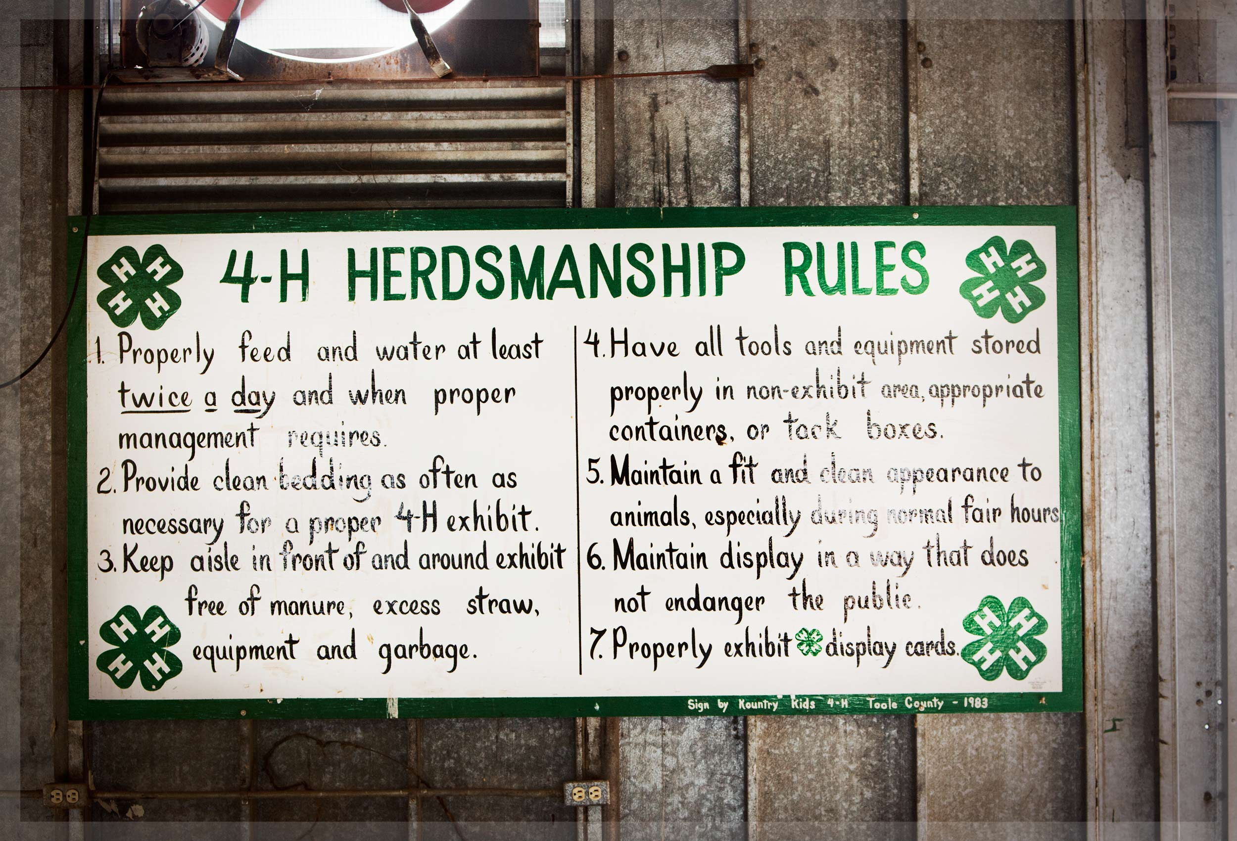 4H Sign at the Sweet Grass County Fair in Big Timber, Montana