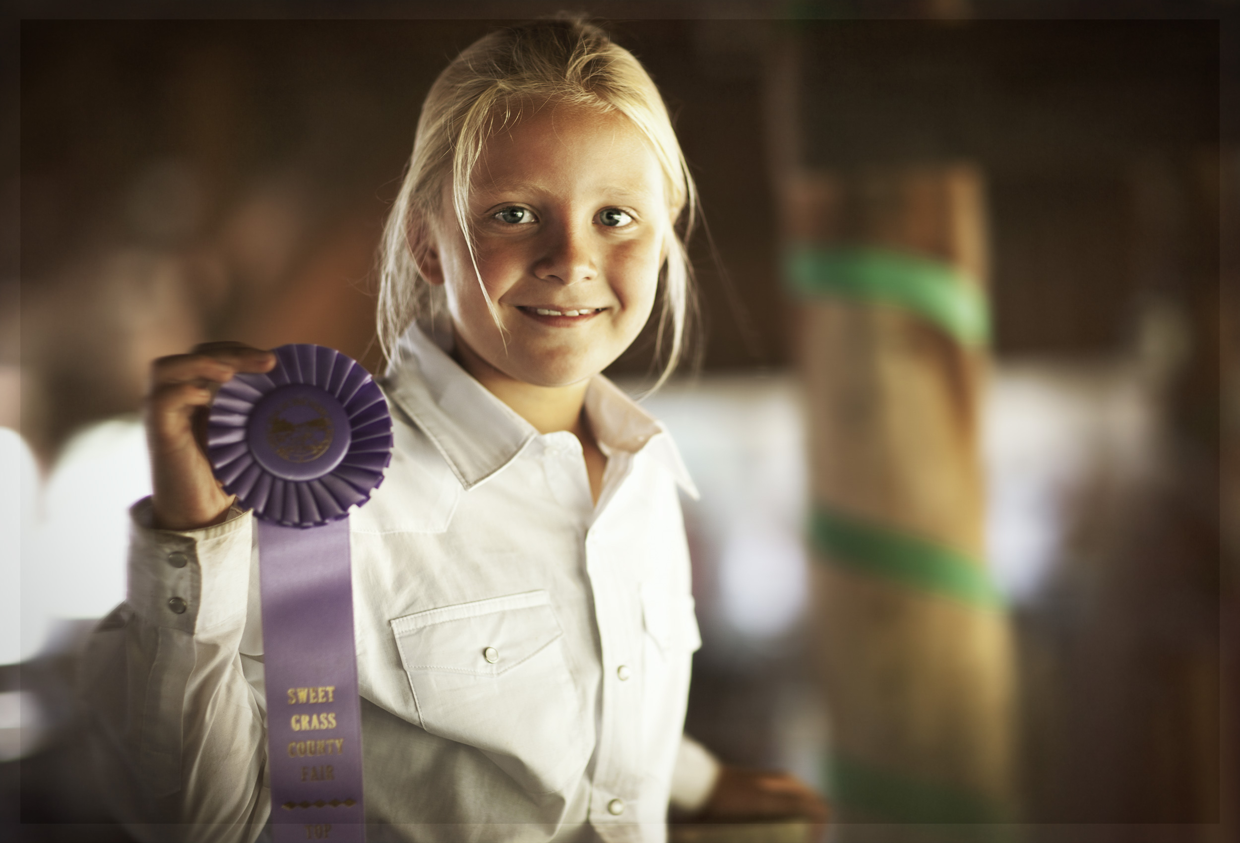 4H Participant at the Sweet Grass County Fair in Big Timber, Montana