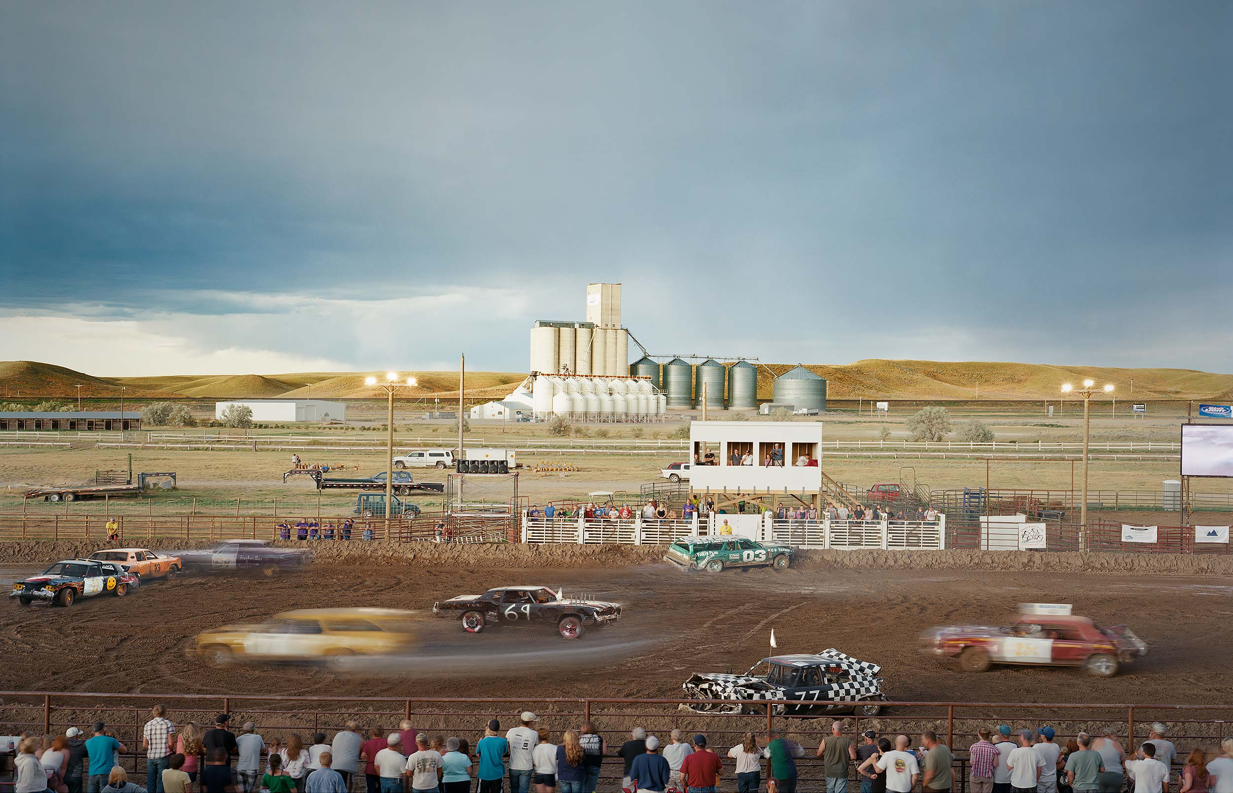 Demolition Derby at the Marias Stampede County Fair in Shelby, Montana