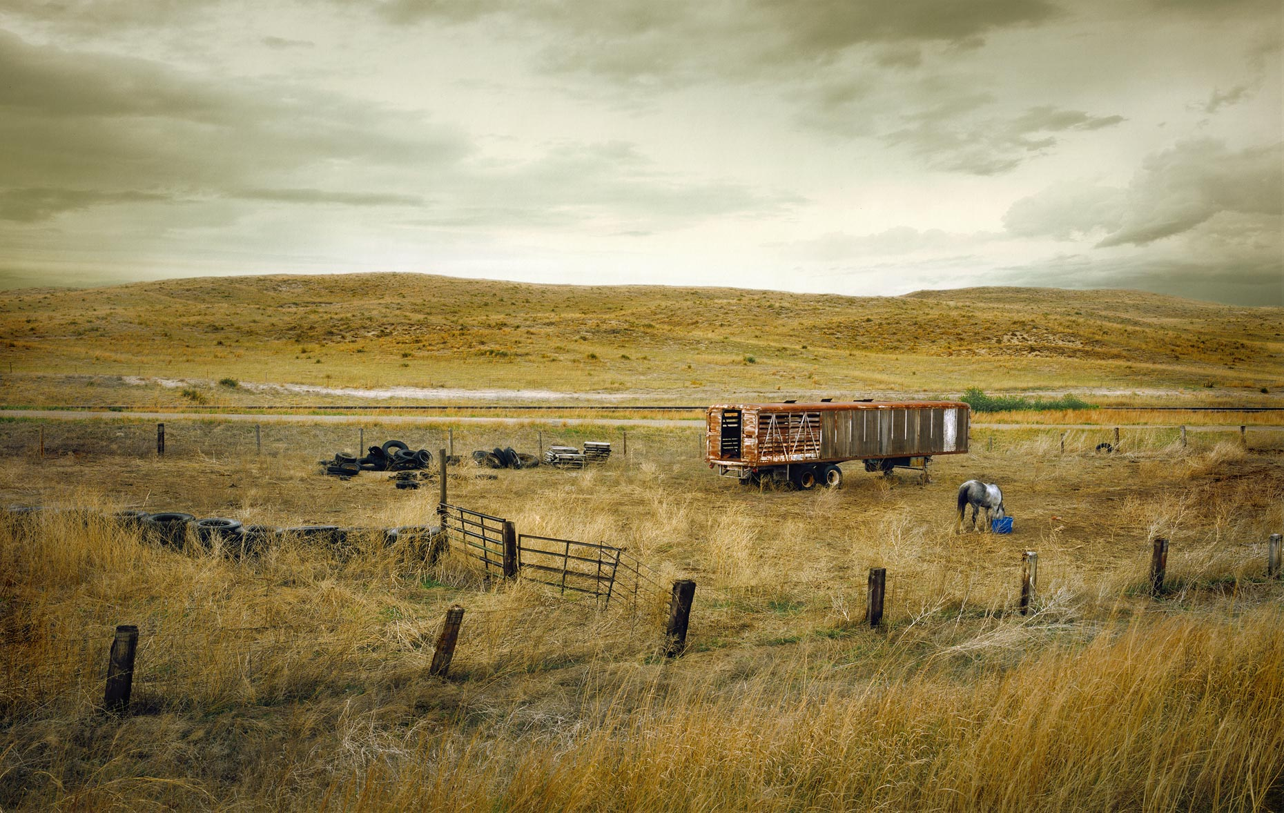 Horse corral in the Sand Hills of Nebraska