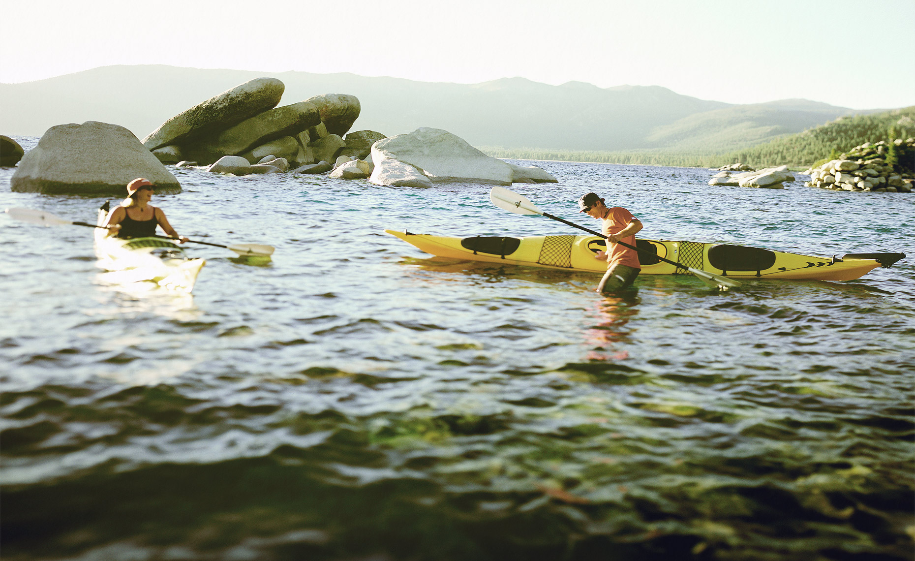 Kayakers on Lake Tahoe
