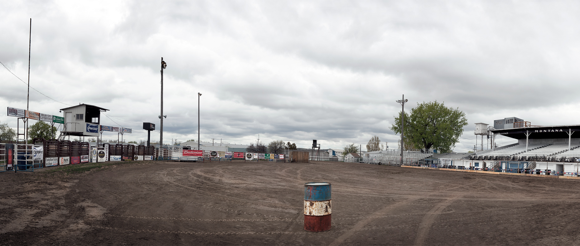Empty Rodeo Arena in Miles City, Montana