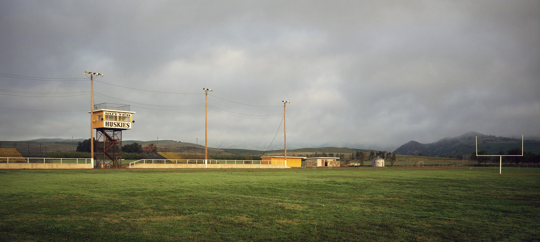 Empty Football Field in Sutter, California