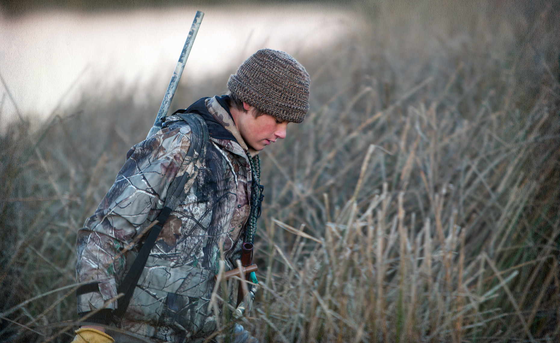 Leaving the duck blind