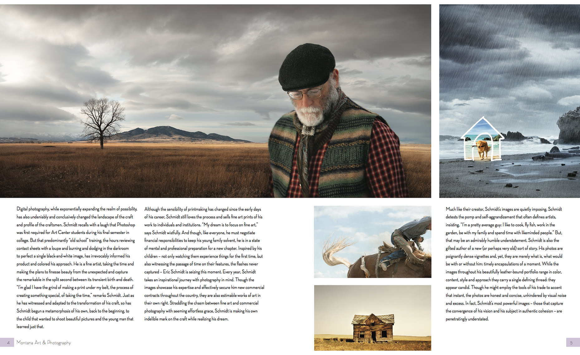 Montana Art and Photo Magazine - a story about Eric Schmidt